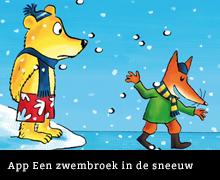 App Zwembroek in de sneeuw van Paul van Loon en Hugo van Look